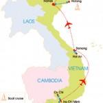 10-Day Vietnam Highlight Tour - map