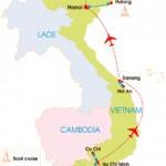 7-Day Vietnam Super Quick Tour - Map