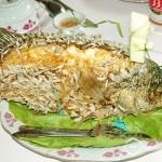 A dish of Elephant ear fish