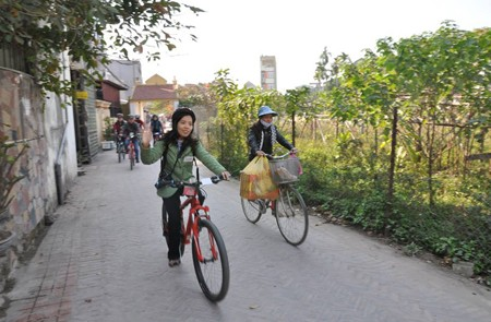 Bike around the village