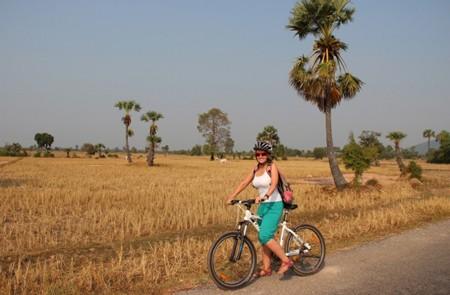 Biking to Beng Mealea Temple