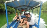 Boat trip in Ba Be Lake