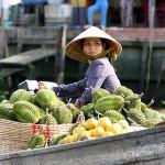 Fruit seller in Cai Be Floating Market