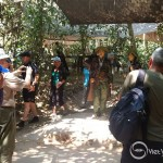 Mrs. Jane Ball and Family visit Cu Chi Tunnels