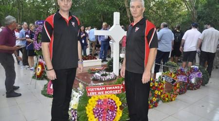 Australia veterans visit Long Tan cross