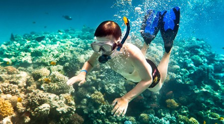 Snorkeling in Tra Dao Beach