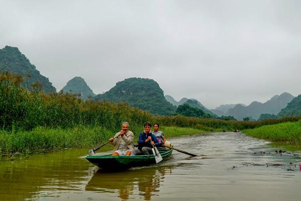 Boat trip in Van Long Wetland Nature Reserve