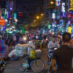 Crazy Bui Vien walking Street, Saigon at night