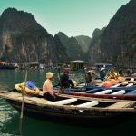 Local boats in Ba Hang Fishing Village