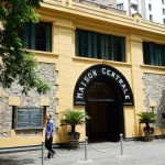 The entrance to the Hoa Lo Prison Museum - the hell on earth during Vietnam war time
