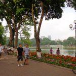 Walking street, Hoan Kiem Lake in early morning