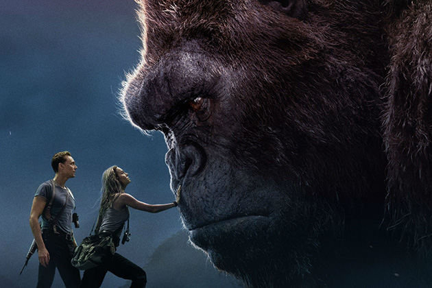 A giant King Kong in the movie