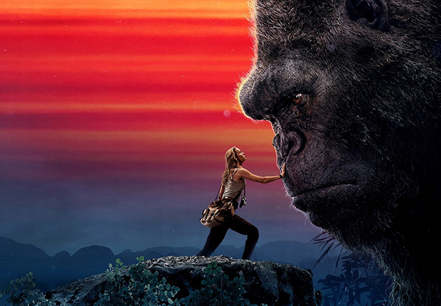 Giant King Kong appearing in the movie