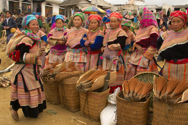 Flower Hmong Hill Tribe Women