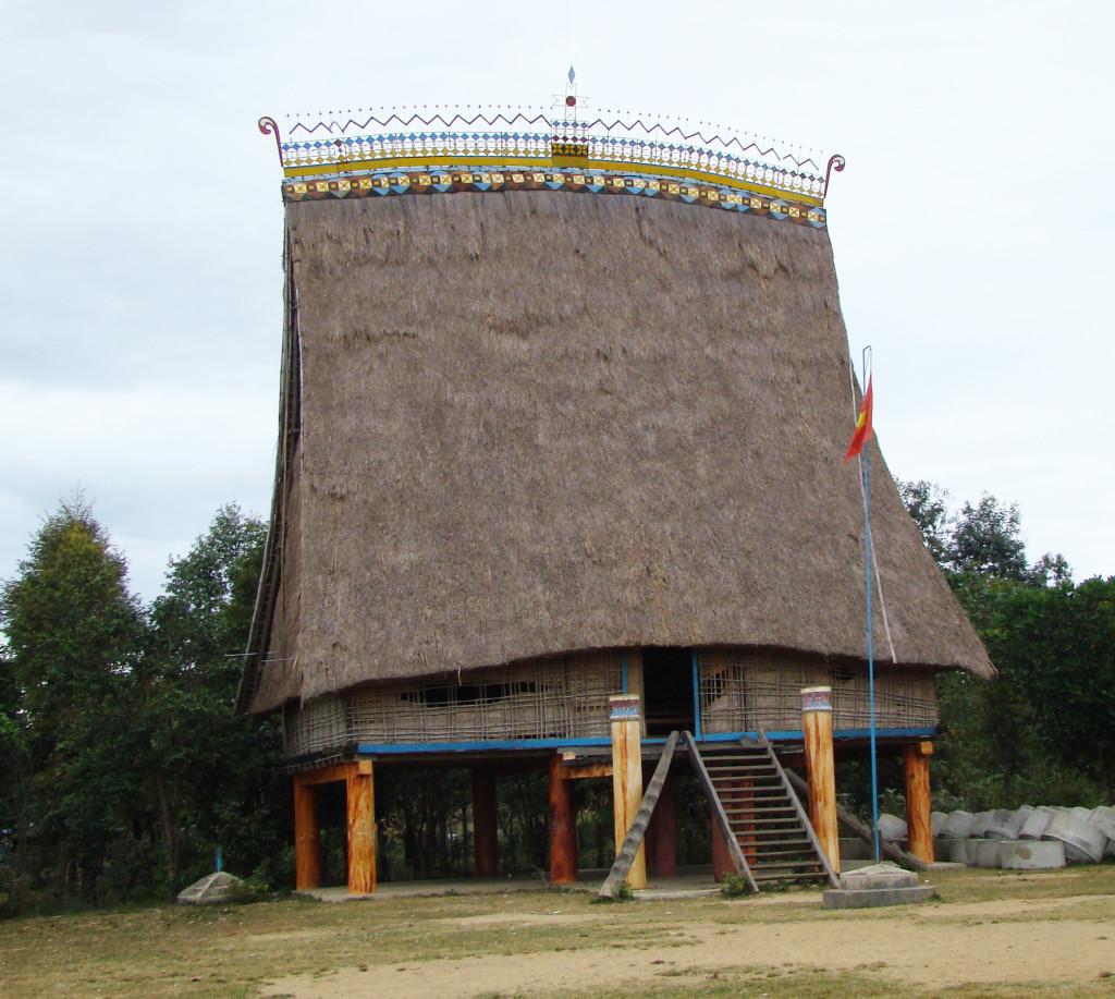 A bahnar Rong house in Kontum, Vietnam