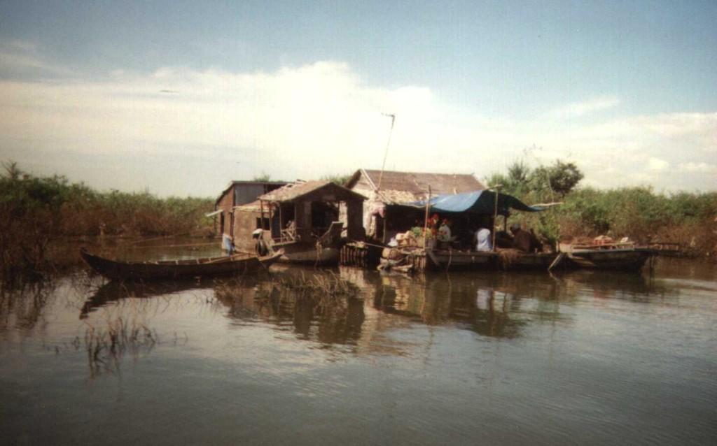 A corner of Tonle Sap Lake in Phnom Penh, Cambodia