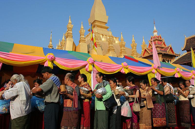 A festival in Vientiane, Laos