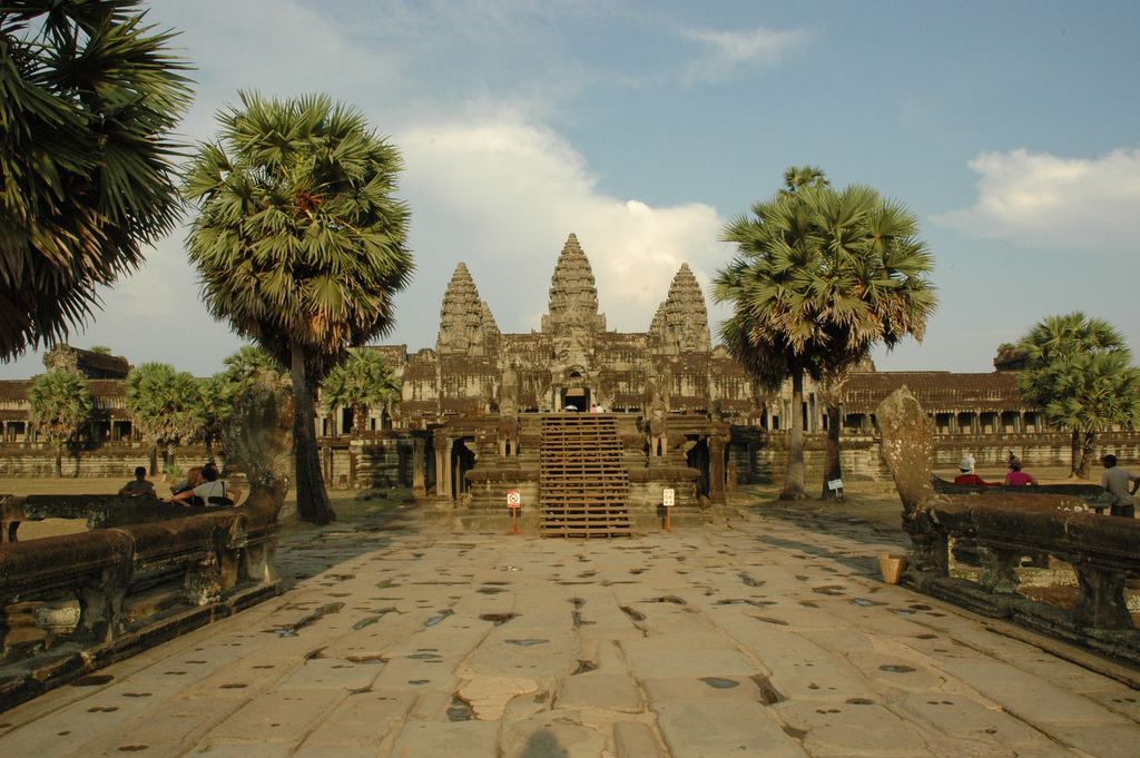 Angkor Wat Towers Seen From the West Main Approach