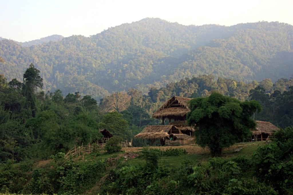 Annamite Range in Pu Mat National Park, Vietnam