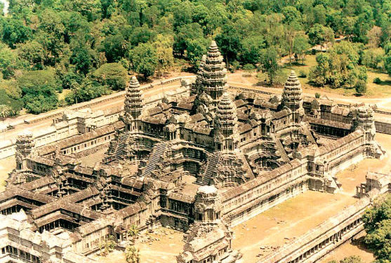 Beautiful Angkor Wat Temple is the Prime Example of the Classical Style of Khmer Architecture in Cambodia.