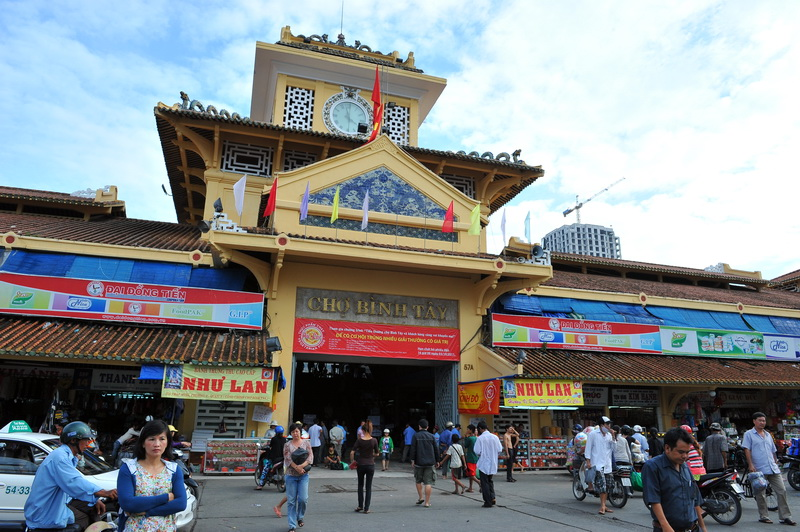 Binh Tay Market is the central market of Cho Lon, Distrct 6, Ho Chi Minh city