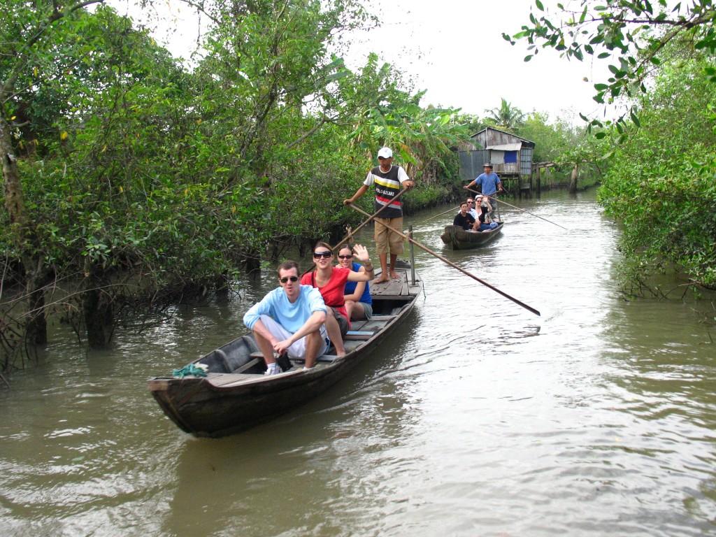 Boat trip around Vinh Long province, Vietnam