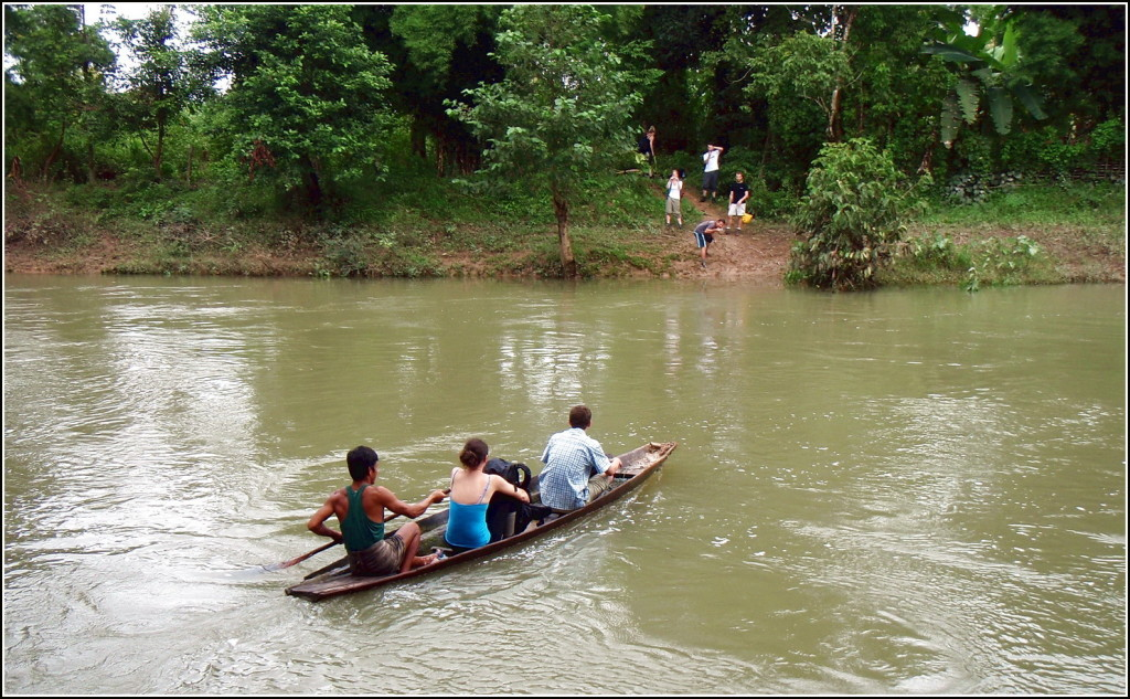 Boating in Xe Pian National park, Laos