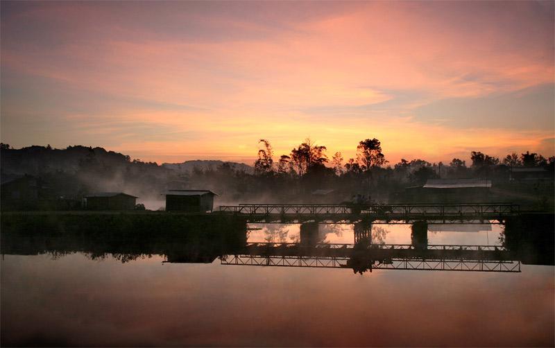 Bridge in Paksong, Laos