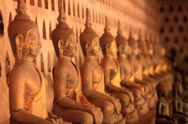 Buddas in Wat Sisaket, Vientiane