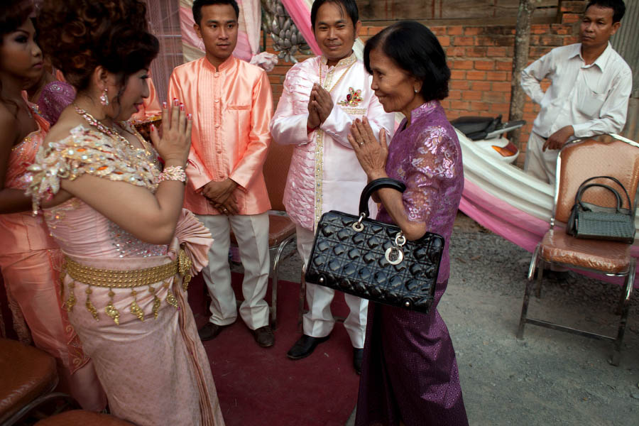 Sampeah is a Cambodian greeting or a way of showing respect