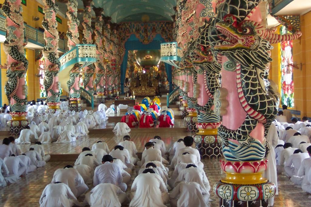 Cao Dai Temple in Tay Ninh Province, Vietnam