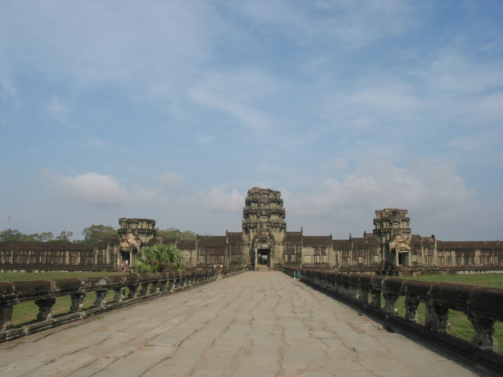 Causeway to Outer Entrance of Angkor Wat Temple