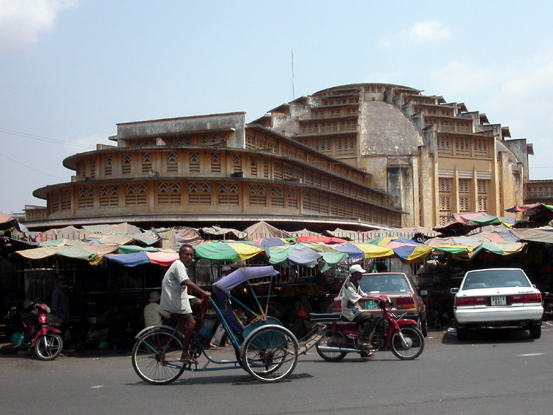 Central Market in Phnom Penh, Cambodia