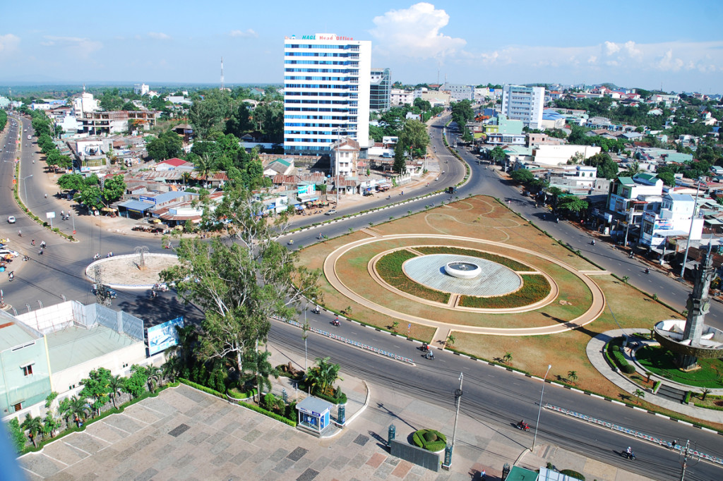 Central of Pleuku city, Gia Lai Province, Vietnam