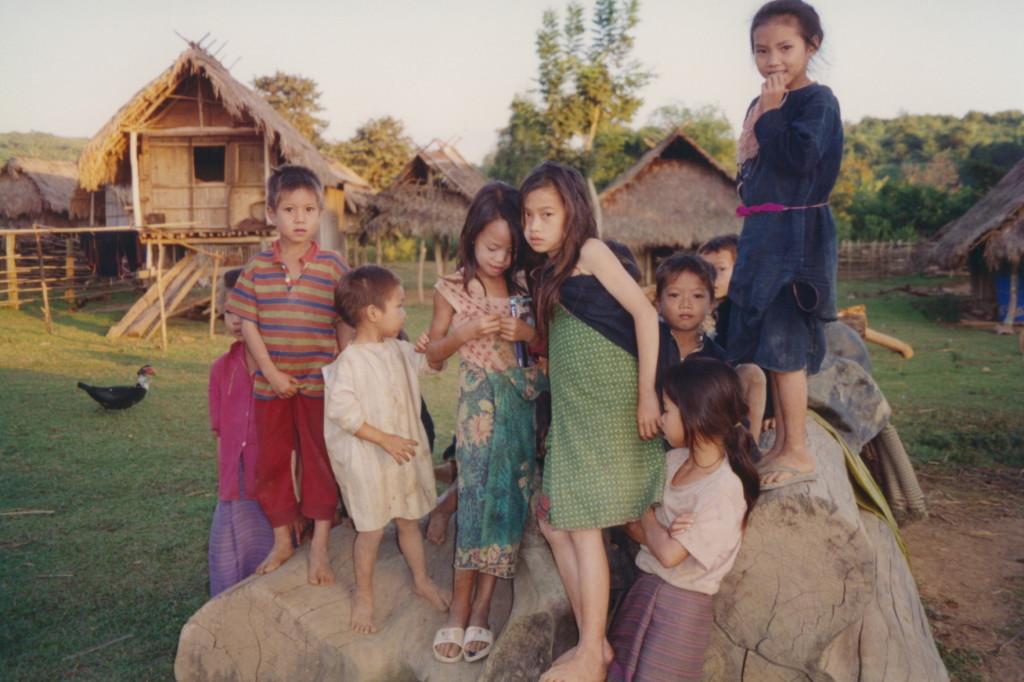 Children in Ban Nam Chang village, Laos