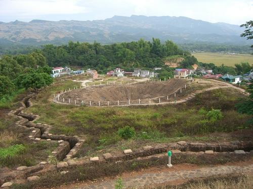 Crater in Hill A1 Dien Bien Phu, Vietnam