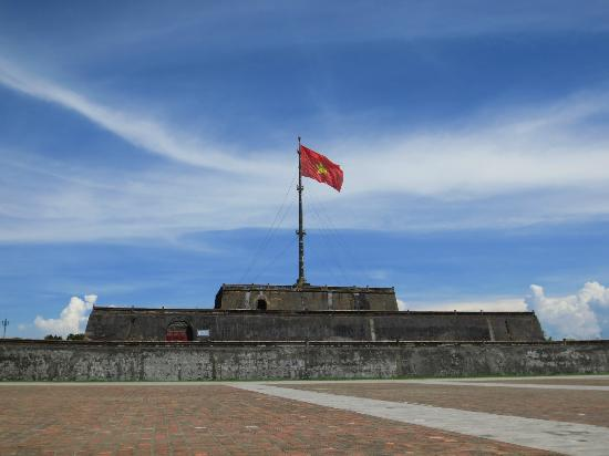 Flag Tower at the Hue citadel, Vietnam