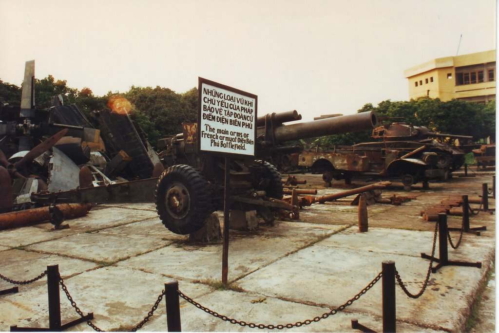 French artillery at the Dien Bien Phu museum