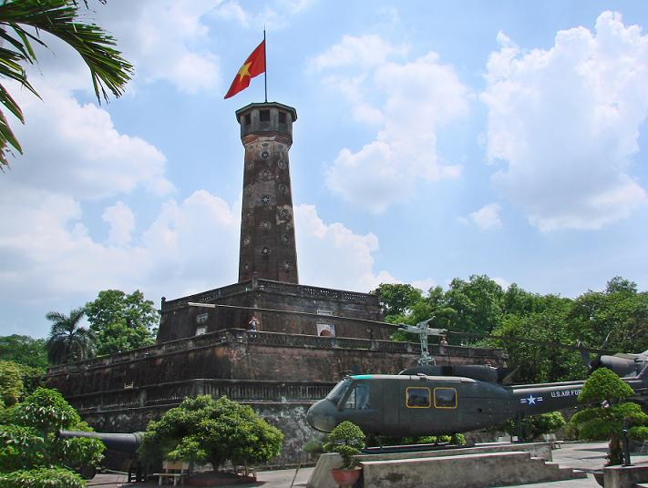 Hanoi Flag Tower in Ba Dinh district, Hanoi, Vietnam