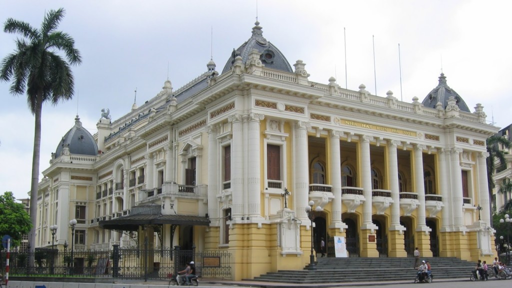 Hanoi Opera House in Hoan Kiem district, Hanoi, Vietnam