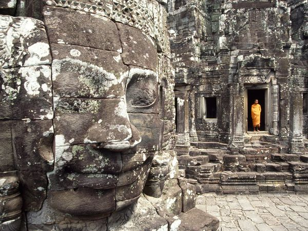Icon of Khmer civilization, Angkor Wat in Cambodia endures as a revered religious shrine.