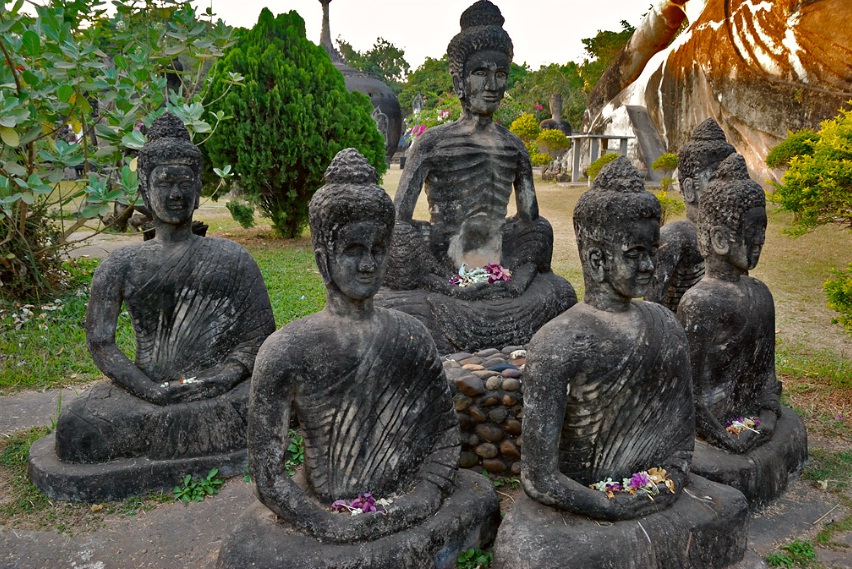 Buddha Images in the park