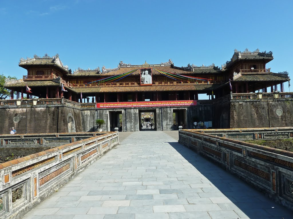 Imperial Citadel, the Noon Gate in Hue, Vietnam