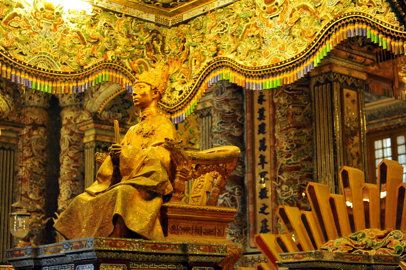 The tomb of Khai Dinh king