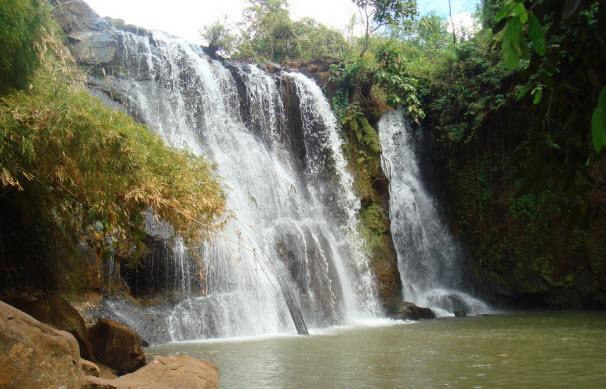 Kachang Waterfall in Ratanakiri, Cambodia