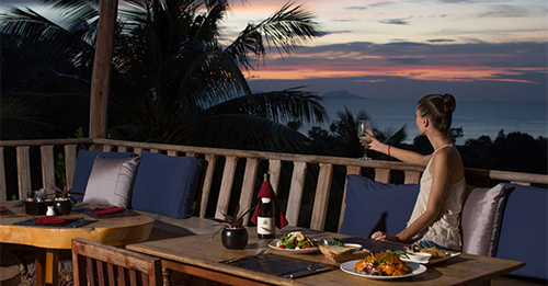Dining in Kep, The Secret Bar and Restarant in Kep at Veranda Natural Resort