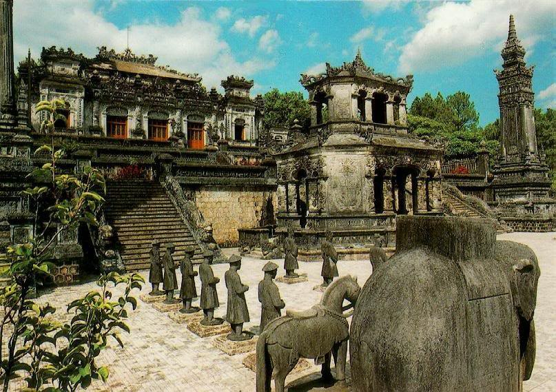 Imperial tombs in Hue.