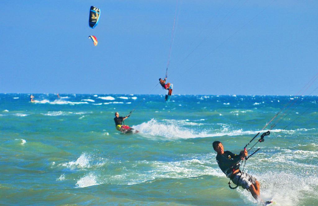 Kite-surfing in Mui Ne Beach