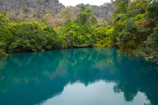 Kong leng Lake in Laos