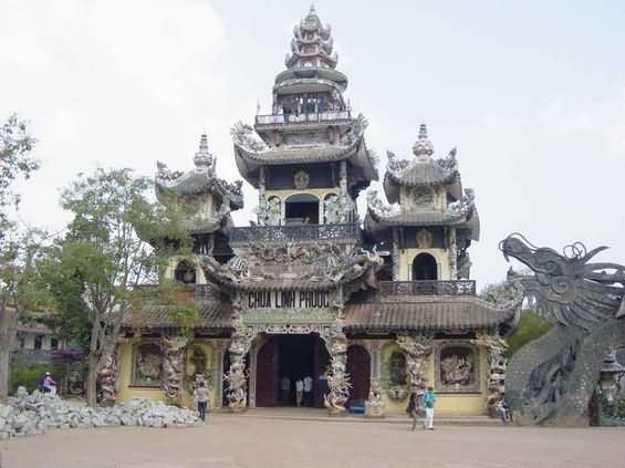 Linh Phuoc Pagoda in Dalat, Vietnam